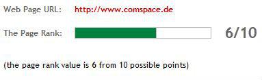 PageRank von Comspace