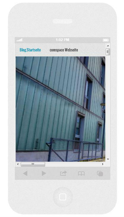 responsives Webdesign auf iPhone