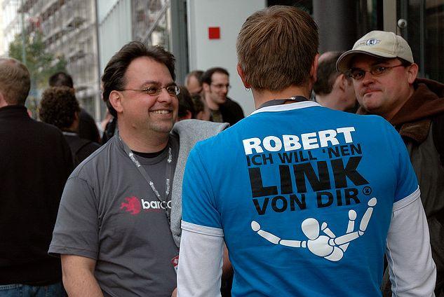 Robert Basic - Ich wioll ein Link von Dir - T-Shirt