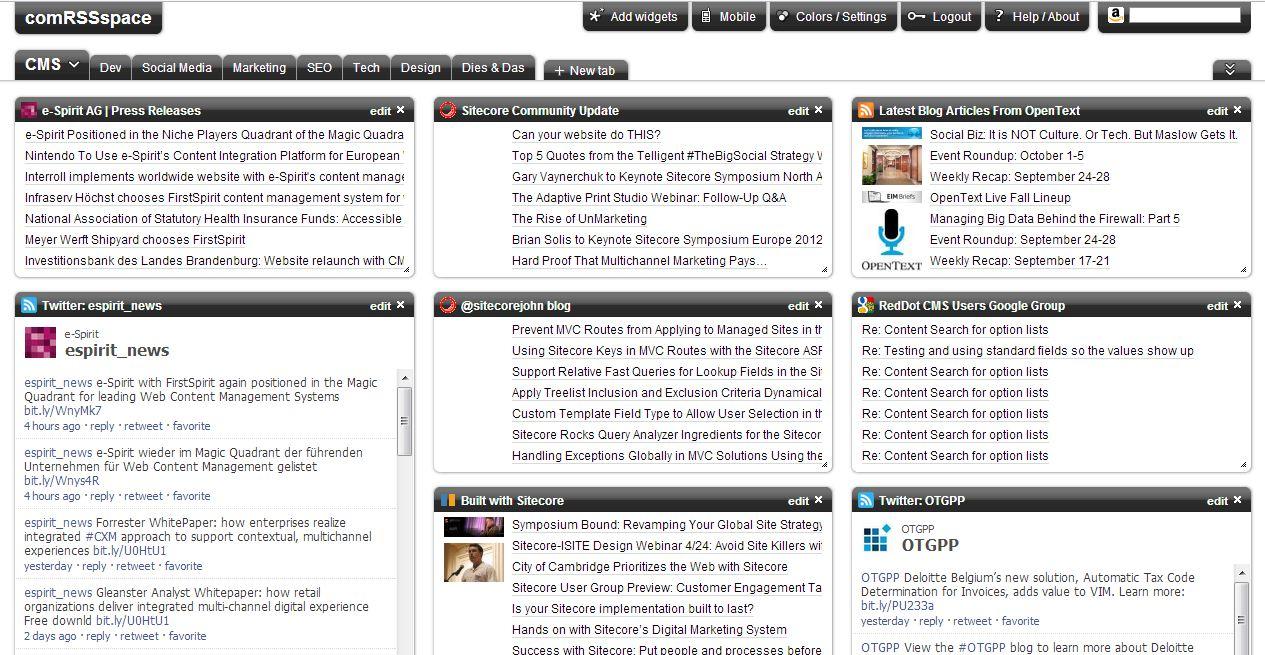 Comspace News Aggregator im Unternehmen