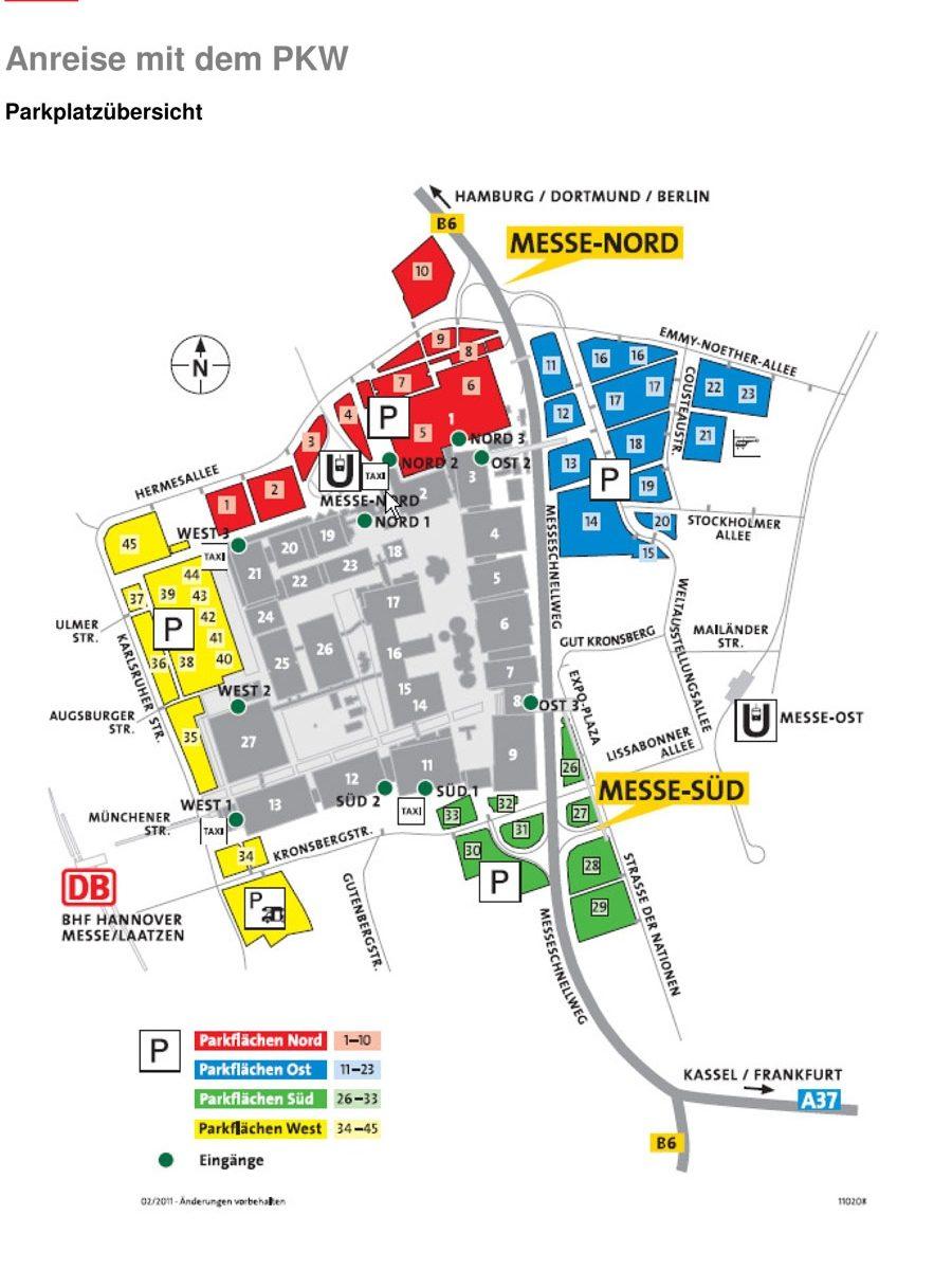 CeBIT Plan mit Parkplätzen (c) CeBIT