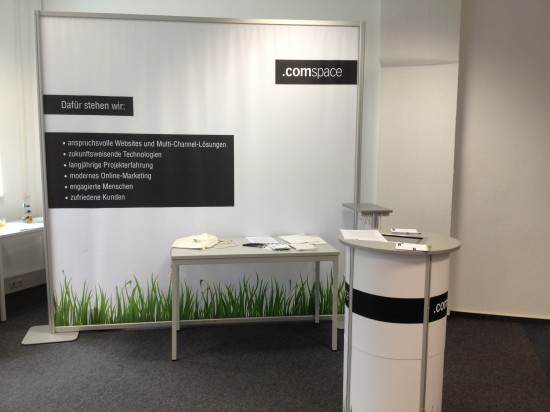 comspace-Stand auf CAREER.DAY FHM