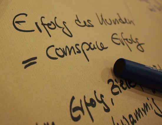 Eines der Ergebnisse aus unserem Workshop zum Unternehmens-Leitbild