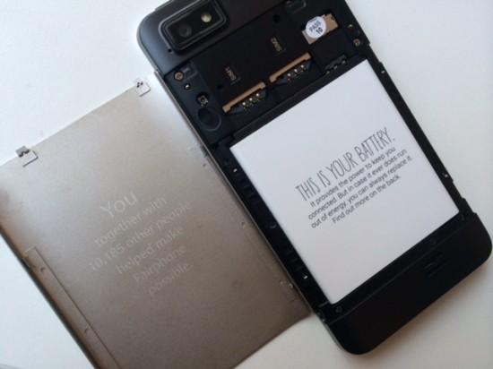 Fairphone-Akku-Abdeckung