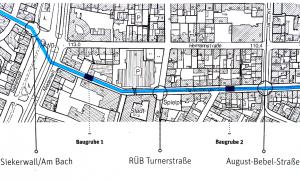 Bisher bedeckt: Bielefeld buddelt bereits Baugruben