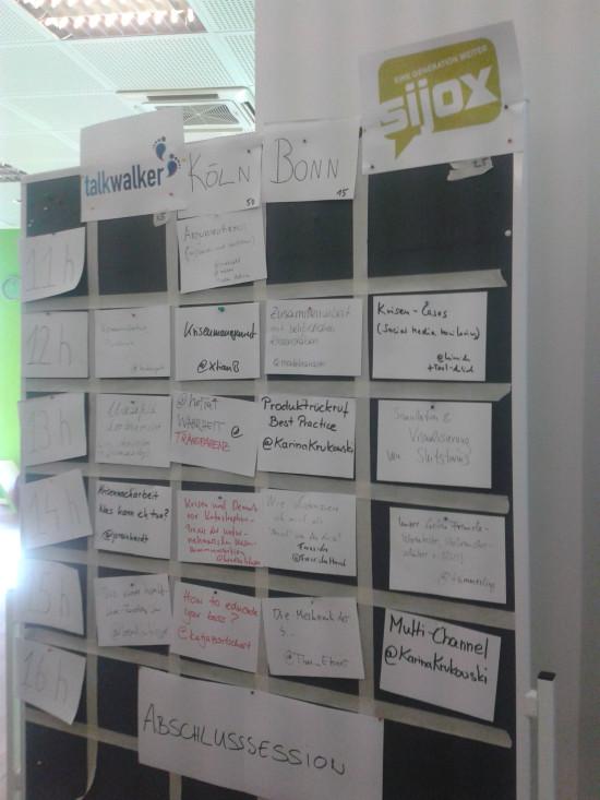 KrisenPRCamp 2014 - Sessionsplanung