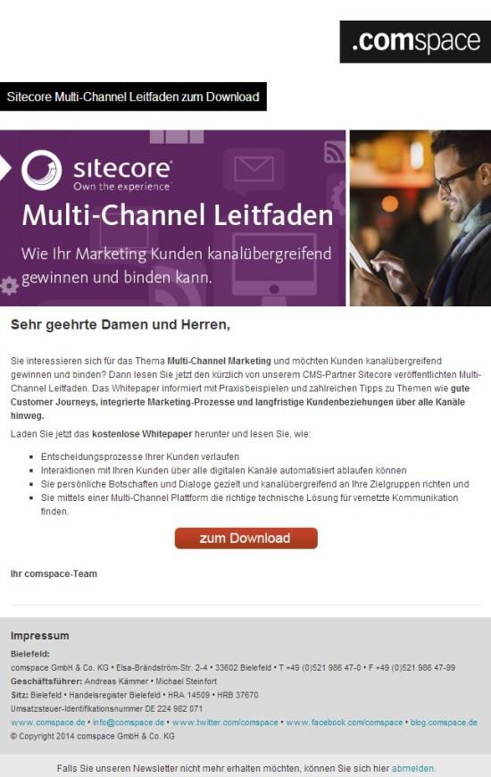 Newsletter Sitecore Multi-Channel Leitfaden