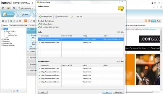 Linkverwaltung in Inxmail