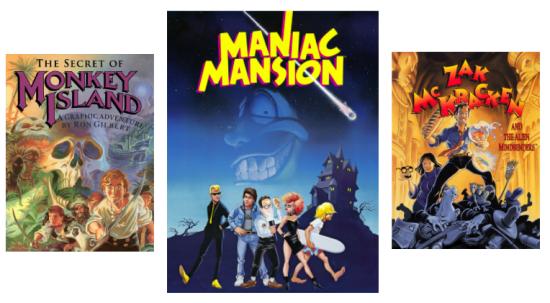(c) Lucas Arts - Poster Maniac Mansion, Zac McKracken, Monkey Island