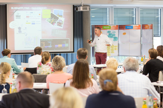 Frank Staffler: Blind applying bei der HR Sommerakademie 2014