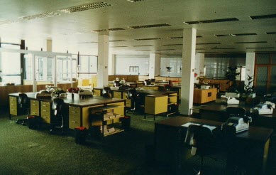 Arbeitsbereich 1. OG damals (C) Historisches Archiv Deutsche Bundesbank