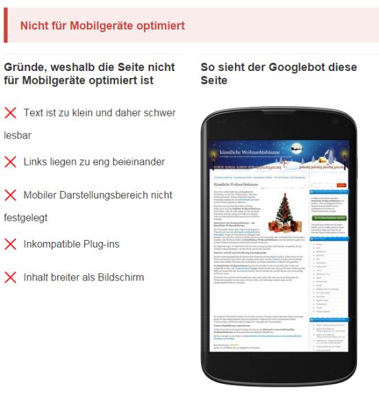 Prüfen ob eine Webseite mobilefähig ist