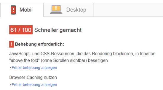 Wie ist der Google Pagespeed meiner Webseite?