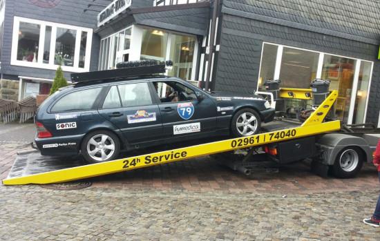 Was war los mit dem Mercedes des Teams Suedhei.de ?