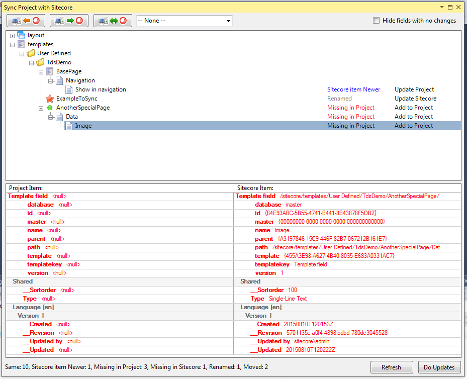 Sitecore-Versionskontrollsystem