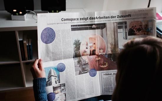 Westfalen-Blatt - Arbeit der Zukunft bei comspace