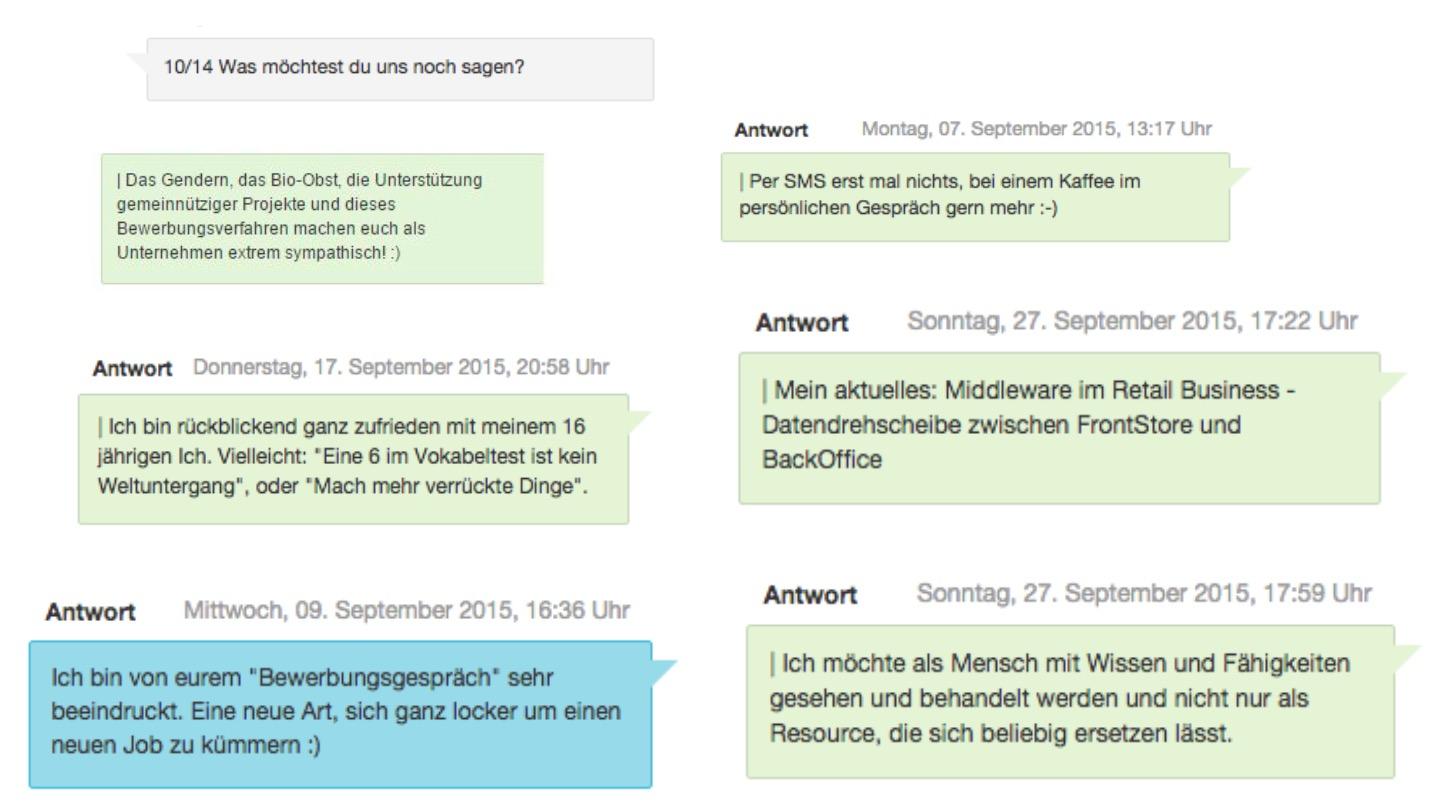 SMS-Recruiting-Beispiele