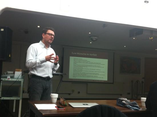 Vortrag von Andreas Kämmer, comspace bei der ESUG Gründungsveranstaltung