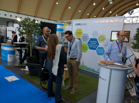 comspace-Stand auf dem IT&Media Future Congress Bielefeld 2016