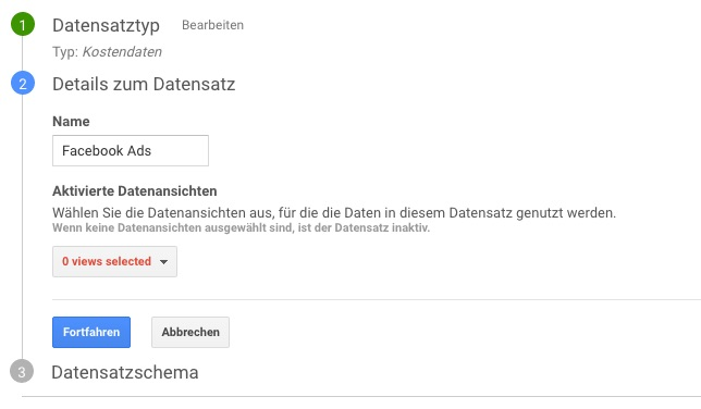 Google Analytics - Datenimport 2