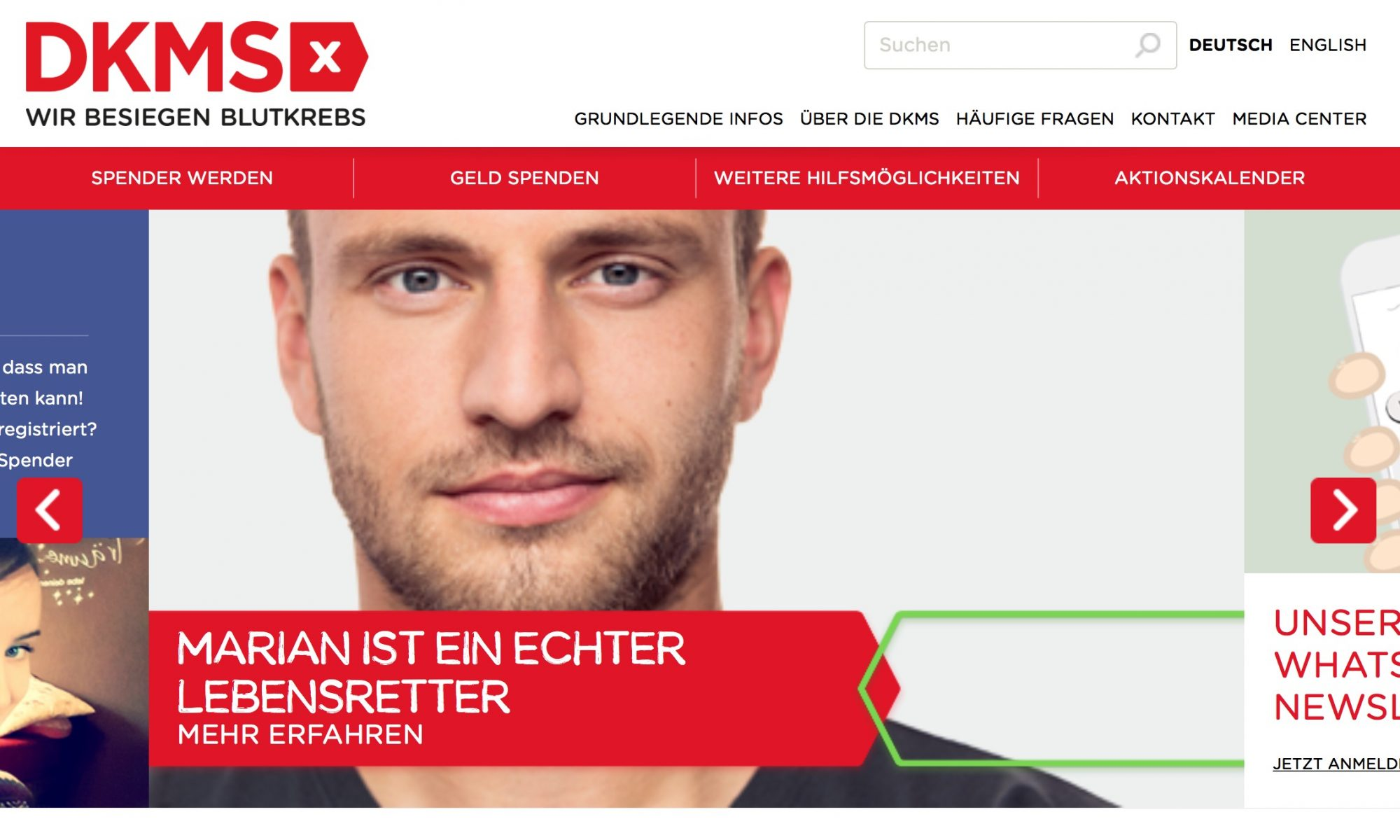 DKMS Knochenmarkspende Screenshot