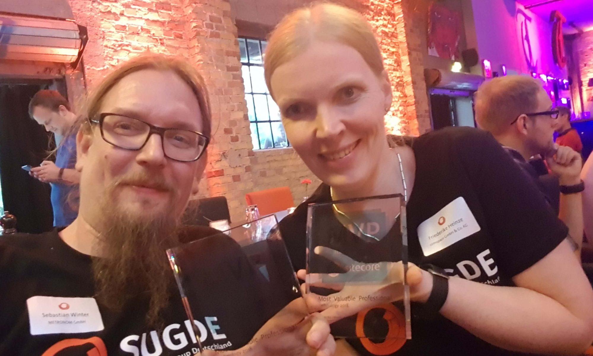 MVP Award für Friederike Heinze und Sebastian Winter