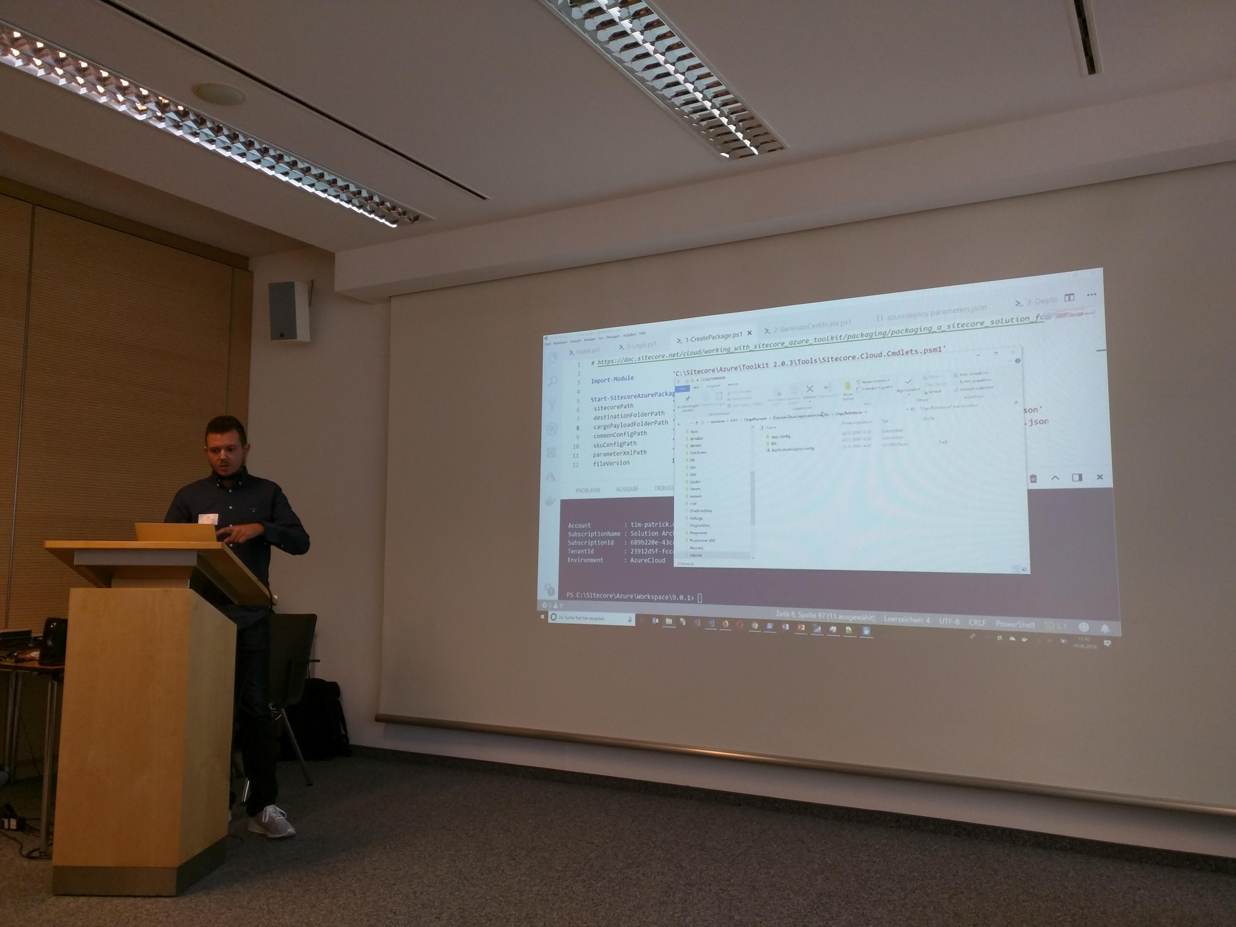 Vortrag Tim-Patrick zum Azure PaaS Deployment