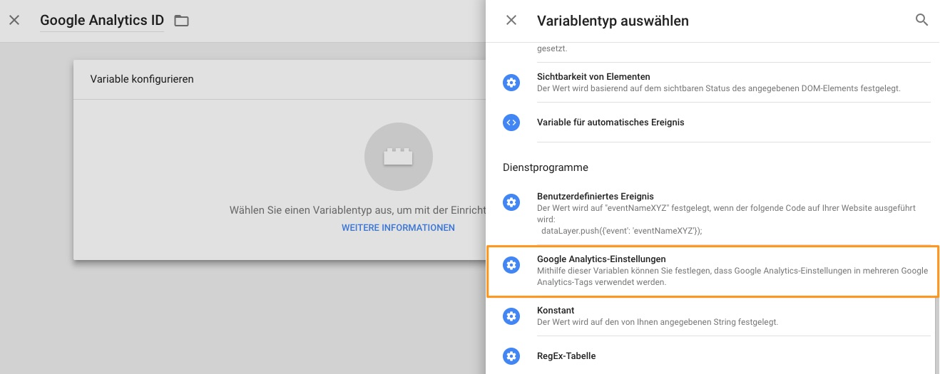 Google Tag Manager - Google Analytics Settings (1)