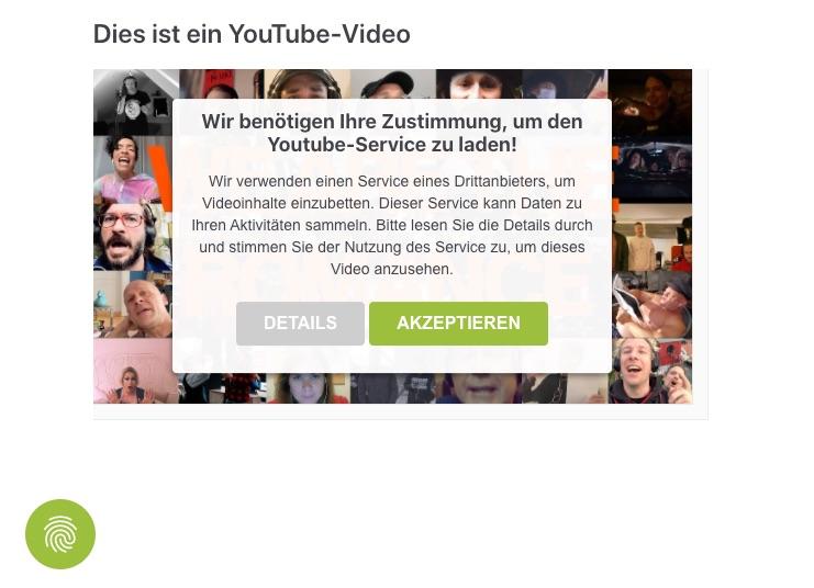 usercentrics - Smart Data Protector: Blockieren eines Youtube-Videos